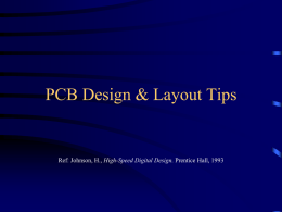 PCB Layout Tips