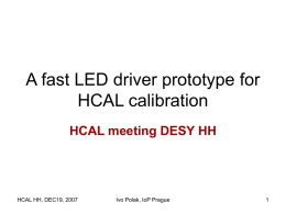 A fast LED driver prototype for HCAL calibration