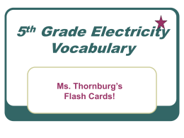 5thElectricityflashcards