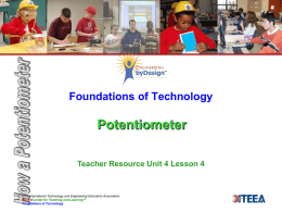 Foundations of Technology Potentiometer Teacher Resource