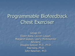 Programmable Chest Exerciser