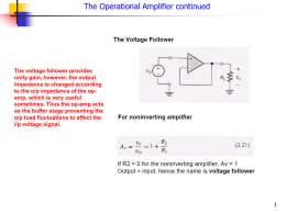 Op-Amp Imperfections in The Linear Range of Operations Gain and