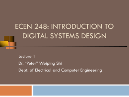 Introduction - Computer Engineering & Systems Group