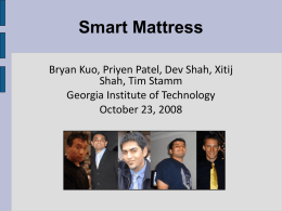 Smart Mattress - Georgia Institute of Technology