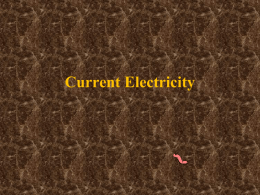 Current Electricity - Red Hook Central Schools