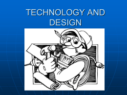 TECHNOLOGY AND DESIGN
