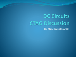 DC Circuits GAP Workshop Presentation includes links to resources