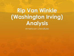 Rip Van Winkle Analysis File