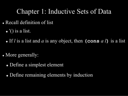 Chapter 1: Inductive Sets of Data