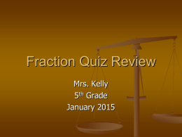 Multiplication Quiz Review