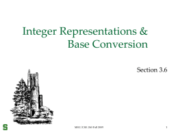 Integer Representation