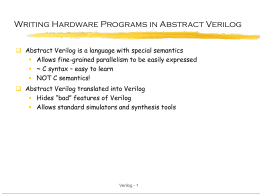 Abstract Verilog