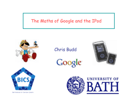 The maths of Google and the IPod