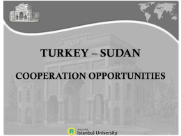 Slayt 1 - Sudanese - Turkish Universities International Cooperation