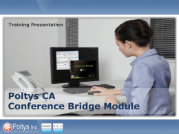 ca conference bridge module training presentation