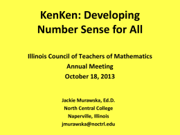 KenKen - Illinois Council of Teachers of Mathematics
