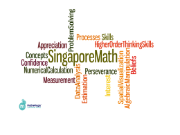 Singapore Math 5th Grade Presentation