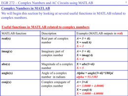 Complex Numbers and AC Circuits