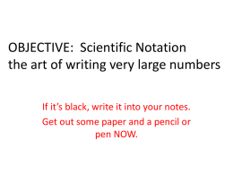 Scientific Notation I