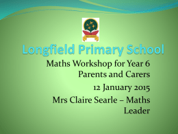 Year 6 Maths Workshop Presentation