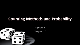 10 Counting Methods and Probability
