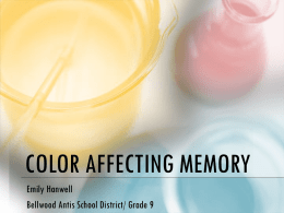 Color Affecting Memory good