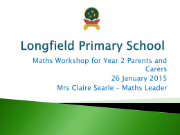 Year 2 Maths Workshop Presentation