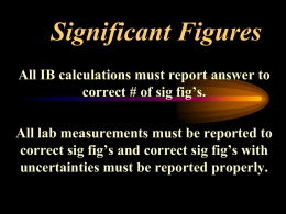 Significant Figures - Red Hook Central School District