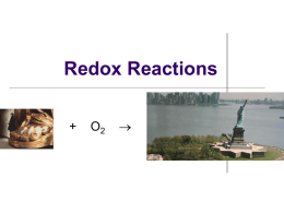 Notes: Oxidation Numbers & Redox Agents
