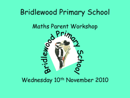 PowerPoint - Bridlewood Primary School