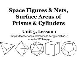 Space Figures, Nets & Drawings