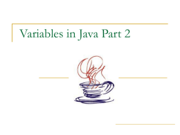 Variables in Java, Part 2