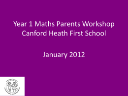 Year 1 Workshop - Canford Heath Infant School