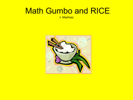 Math Gumbo and Rice PPT