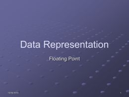 Floating Point Presentation