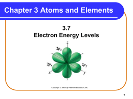 3.7 Electron Energy Levels