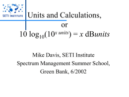 Units and Calculations