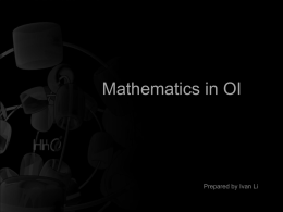 Mathematics in OI