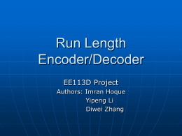 Run Length Encoder/Decoder