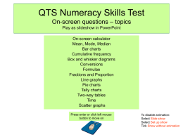 qts numeracy: stats overview