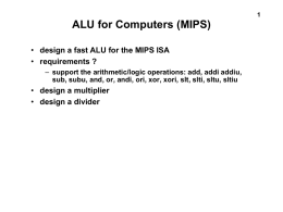 ALU for MIPS
