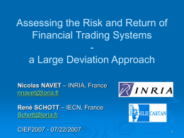 Assessing the Risk and Return of Financial Trading System