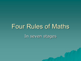 Four Rules of Maths - Elk River School District