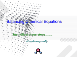 Balancing Chemical Equations - Chemistry Resources for IB