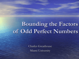Bounding the Factors of Odd Perfect Numbers