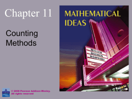 Mathematical Ideas - Millersville University of Pennsylvania