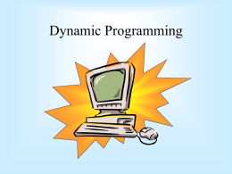 Dynamic Programming - University of Cape Town