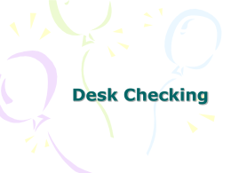 Desk Checking - Education Mailing Lists