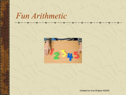 Fun Arithmetic - Raise Smart Kids