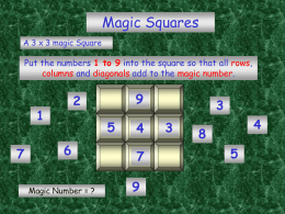 Magic Squares - Suffolk Maths